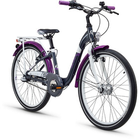 s'cool chiX 24 3-S Juniorcykel Barn alloy grå/violett
